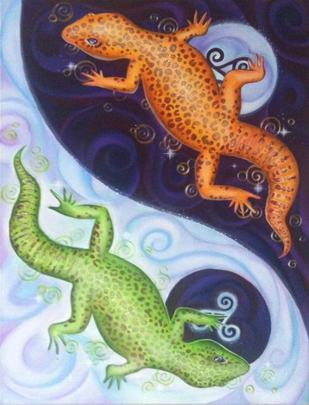 geckos, yinyang
